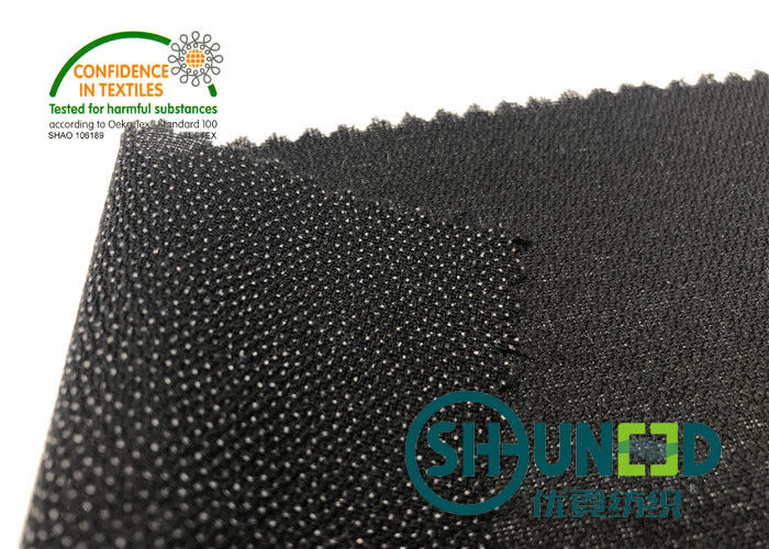 Black PA Coated Woven Interlining Twill Woven Stretch Interfacing
